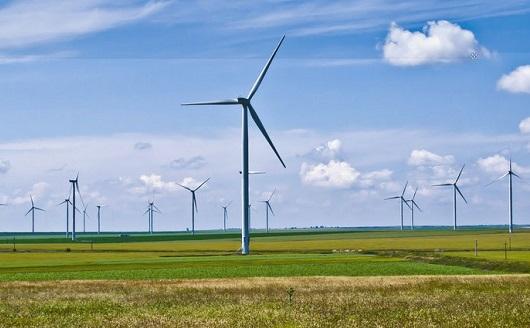 kincir angin di daratan