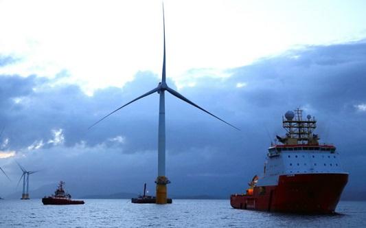 kincir angin di laut