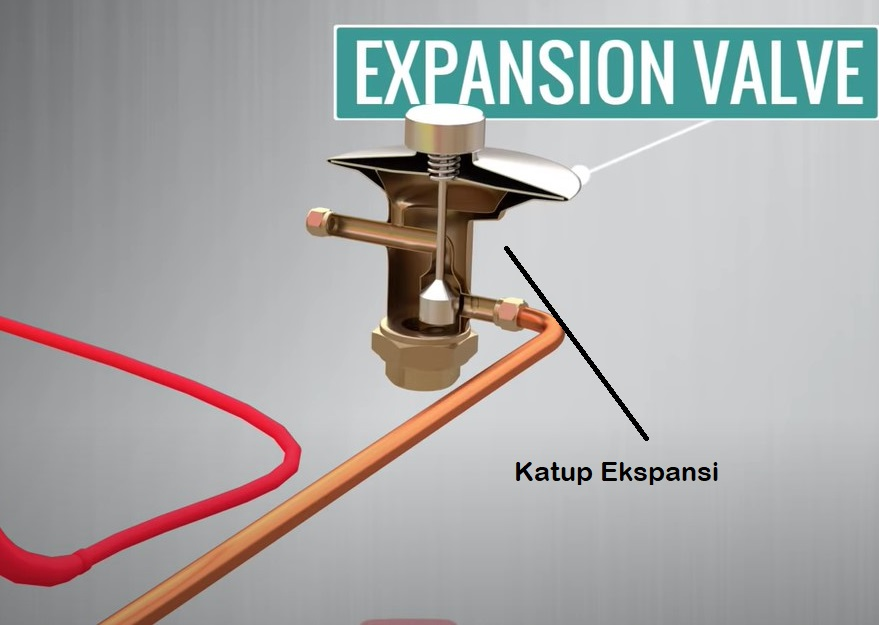 katup ekspansi menurunkan tekanan refrigerant