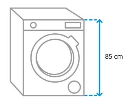 Ukuran tinggi mesin cuci