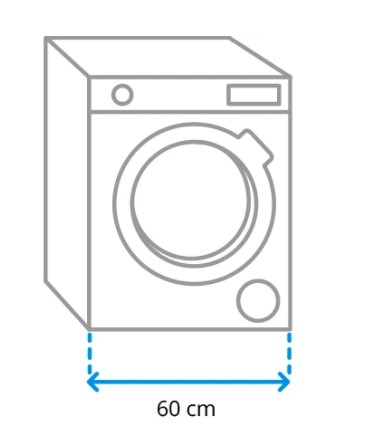 Ukuran lebar mesin cuci
