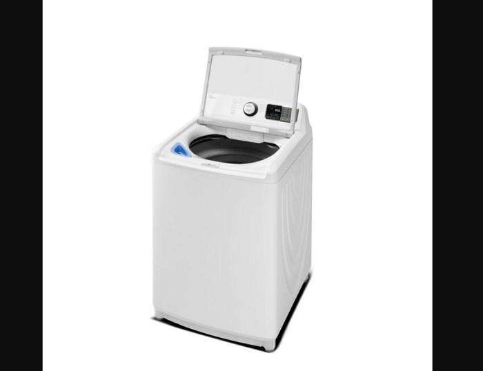 ukuran mesin cuci top loading