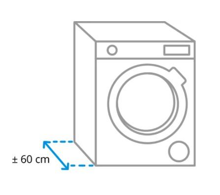 Ukuran panjang mesin cuci