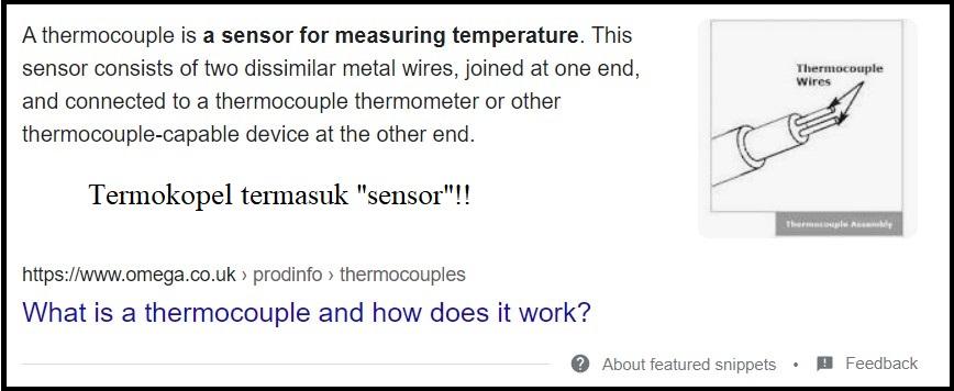 termokopel termasuk sensor